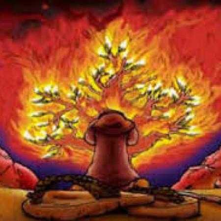 Pastor David Clark sermon image burning bush